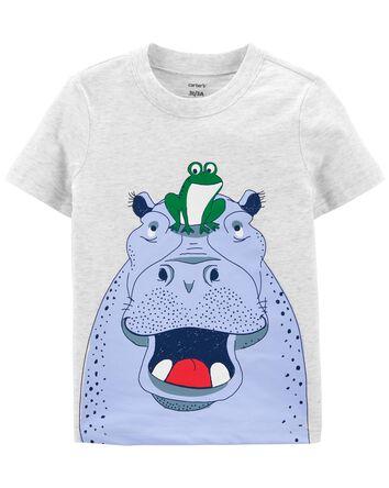 T-shirt en jersey à hippopotame