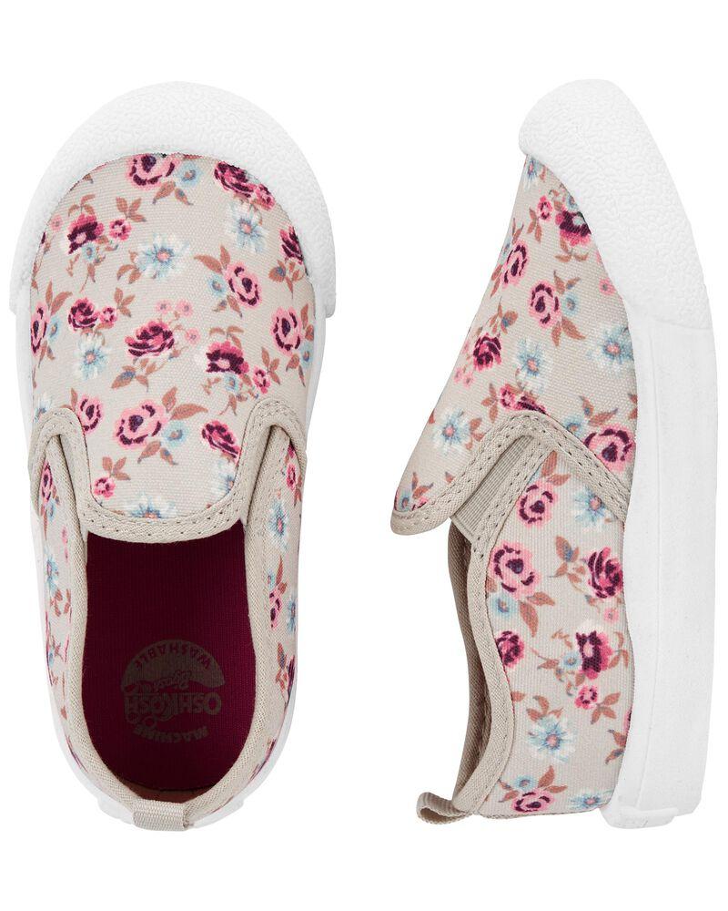 Chaussures à enfiler avec motif fleuri, , hi-res