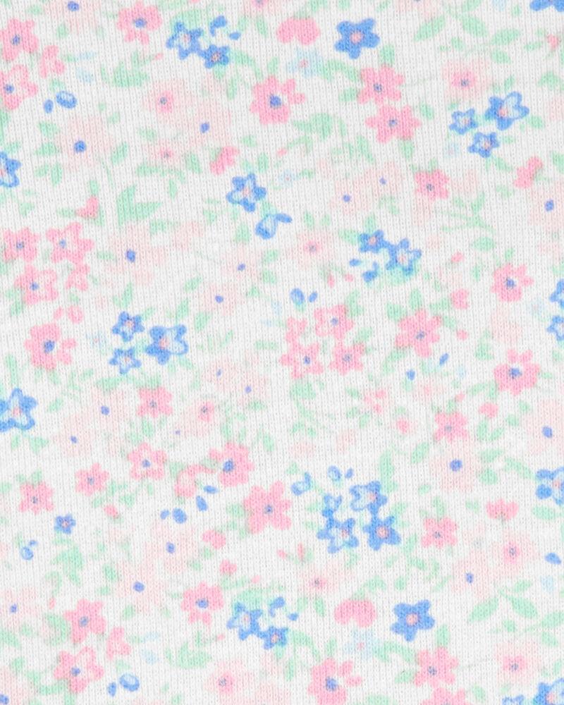 2-Piece Floral Tee & Cat Shortalls Set, , hi-res