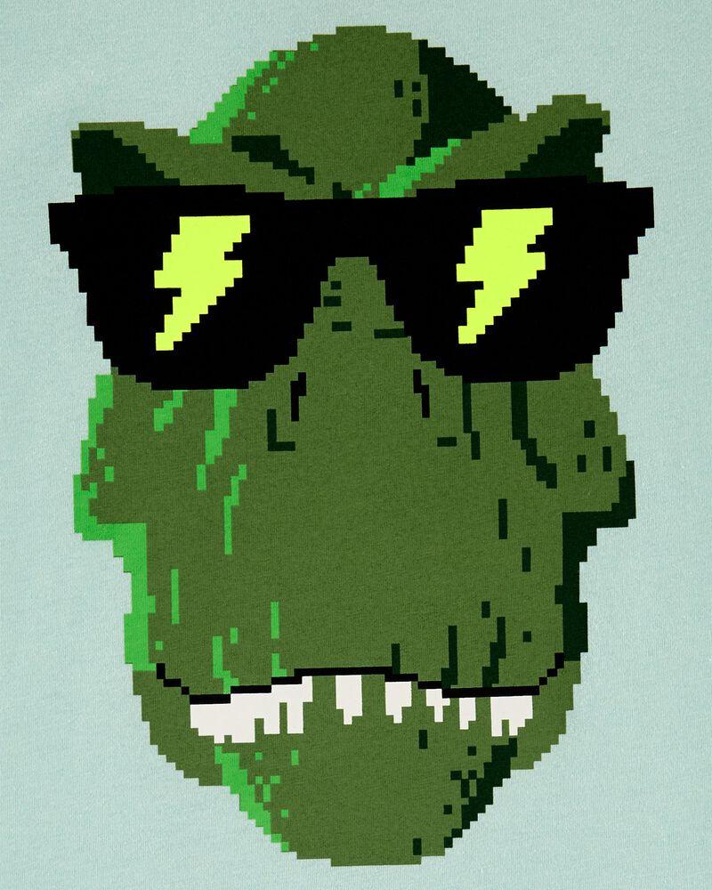 T-shirt en jersey dinosaure et jeux vidéo, , hi-res