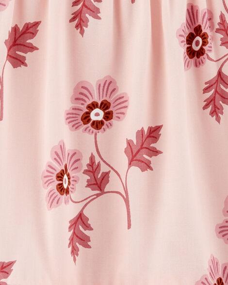 Robe à volants fleurie
