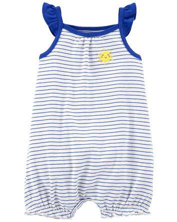 Striped Snap-Up Romper