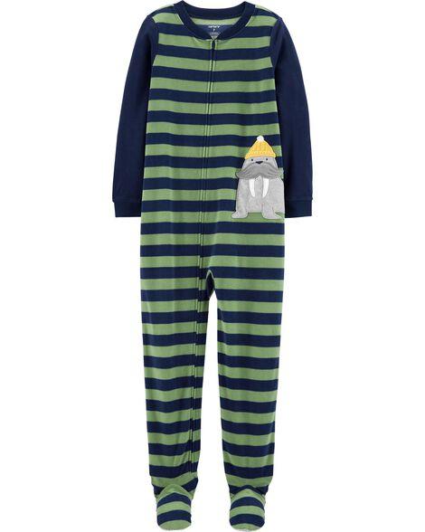 Pyjama 2 pièces en molleton à pieds morse
