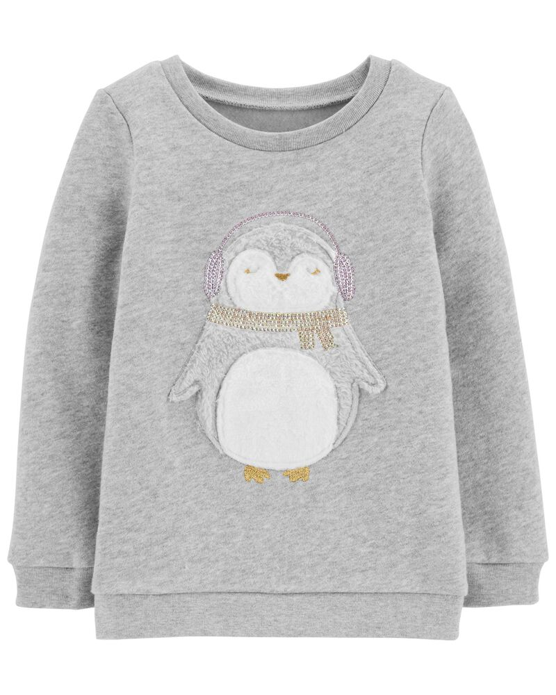 Penguin Fleece Pullover, , hi-res