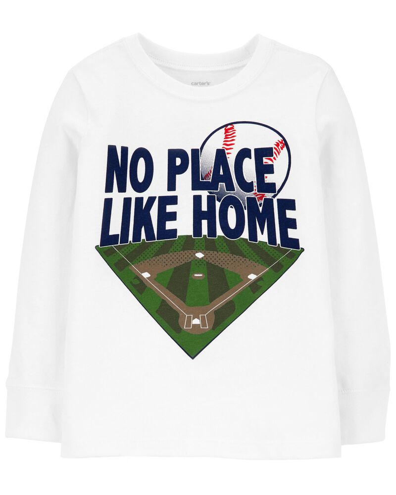 No Place Like Home Baseball Jersey Tee, , hi-res