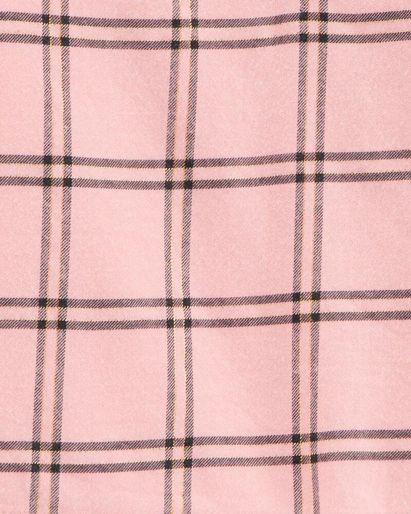 Ensemble 2 pièces haut en flanelle à motif écossais et legging, , hi-res