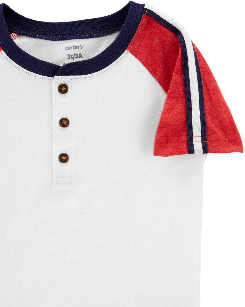 T-shirt à manches raglan en jersey, , hi-res