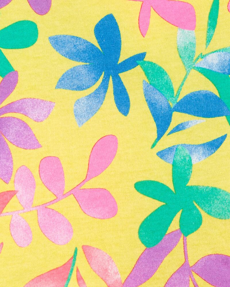 Débardeur en jersey avec fleurs tropicales et basque, , hi-res