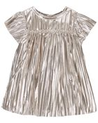 Pleated Sparkle Dress, , hi-res