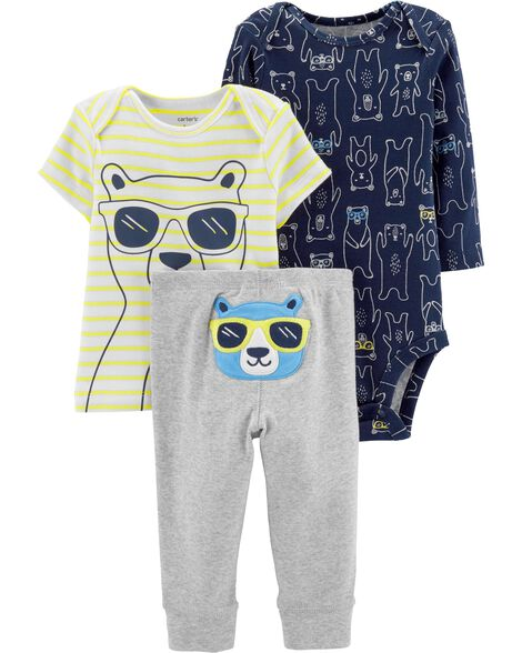 3-Piece Bear Little Character Set