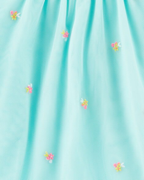 Floral Tulle Holiday Dress