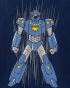 T-shirt en jersey avec robot, , hi-res