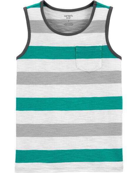 Striped Slub Jersey Tank