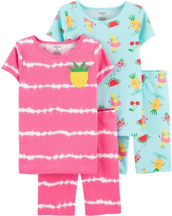 Pyjama 4 pièces en coton ajusté ana...
