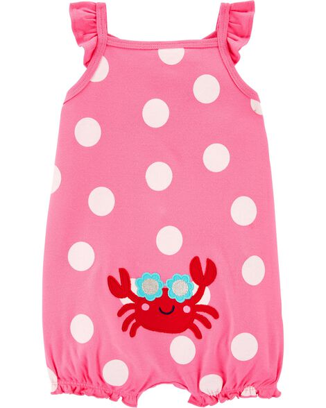 Crab Cotton Romper