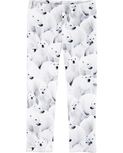 Legging en molleton douillet ours polaire