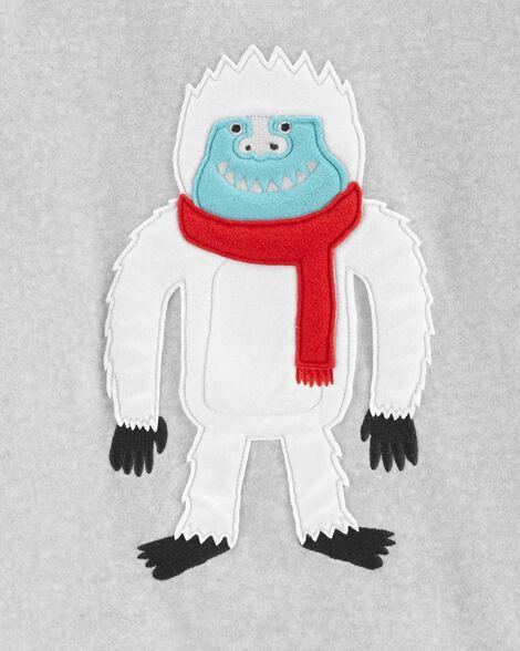 Pyjama 2 pièces en molleton abominable homme des neiges
