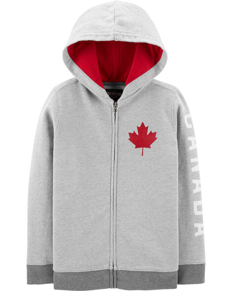 Canada Day Zip-Up French Terry Hoodie