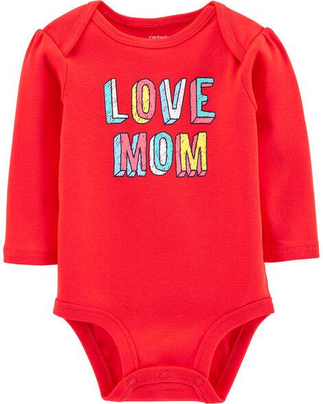 Love Mom Collectible Bodysuit