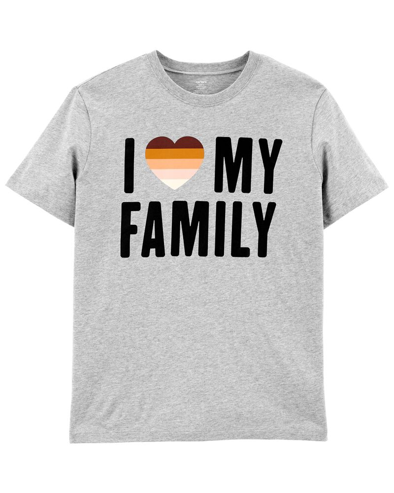 T-shirt unisexe pour adulte I Love My Family , , hi-res