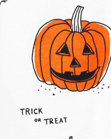Grenouillère d'Halloween 2 pièces en coton avec glissière 2 sens