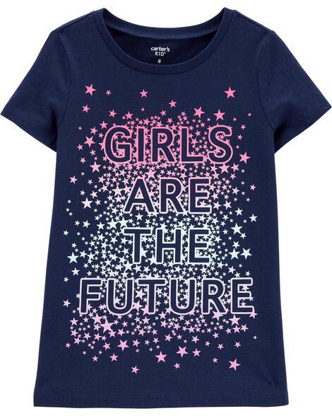 T-shirt en jersey Girls are the future