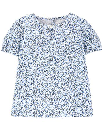 Floral Puff-Sleeve Top