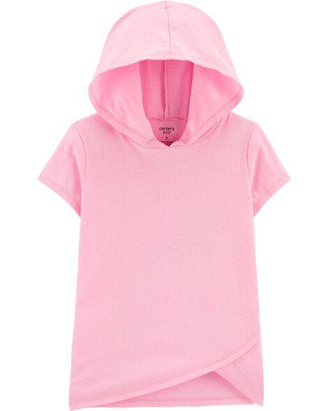 T-shirt à capuchon en jersey scintillant fluo