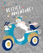 T-shirt à basque et bouledogue, , hi-res