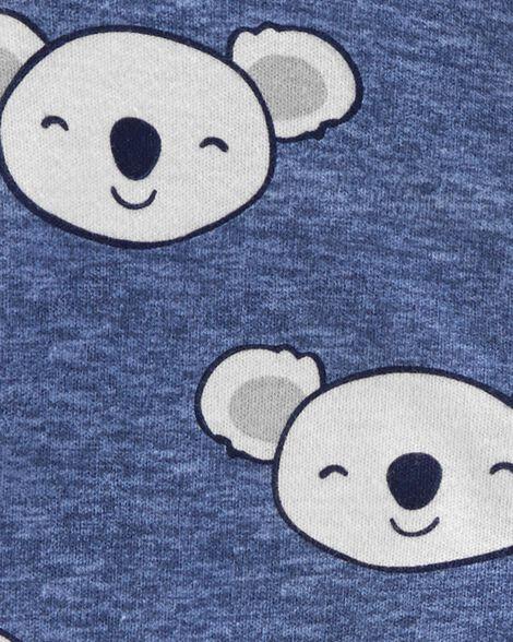 Grenouillère pour dormir et jouer en coton à glissière 2 sens koala