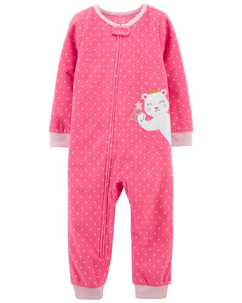 Pyjama 1 pièce à pieds en molleton avec souris, , hi-res