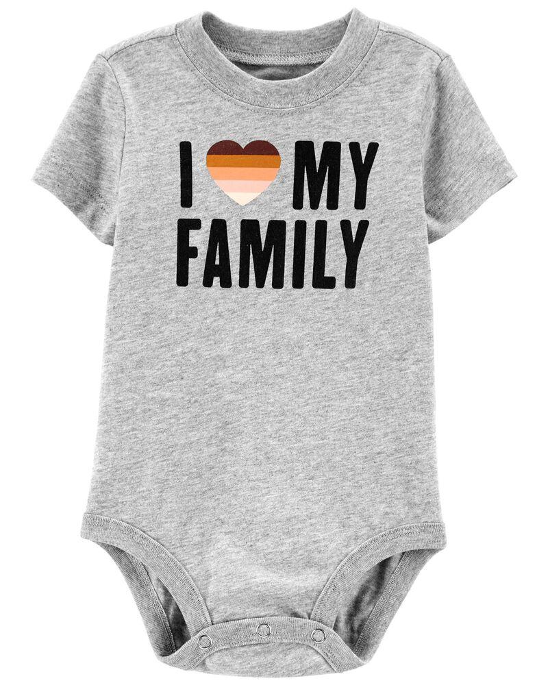 I Love My Family Bodysuit, , hi-res
