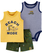 3-Piece Beach Mode Little Short Set, , hi-res