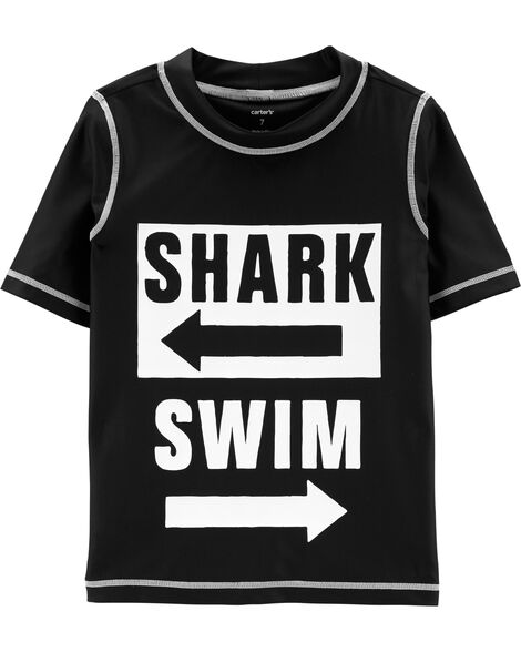 Shark Swim UV Swim Shirt