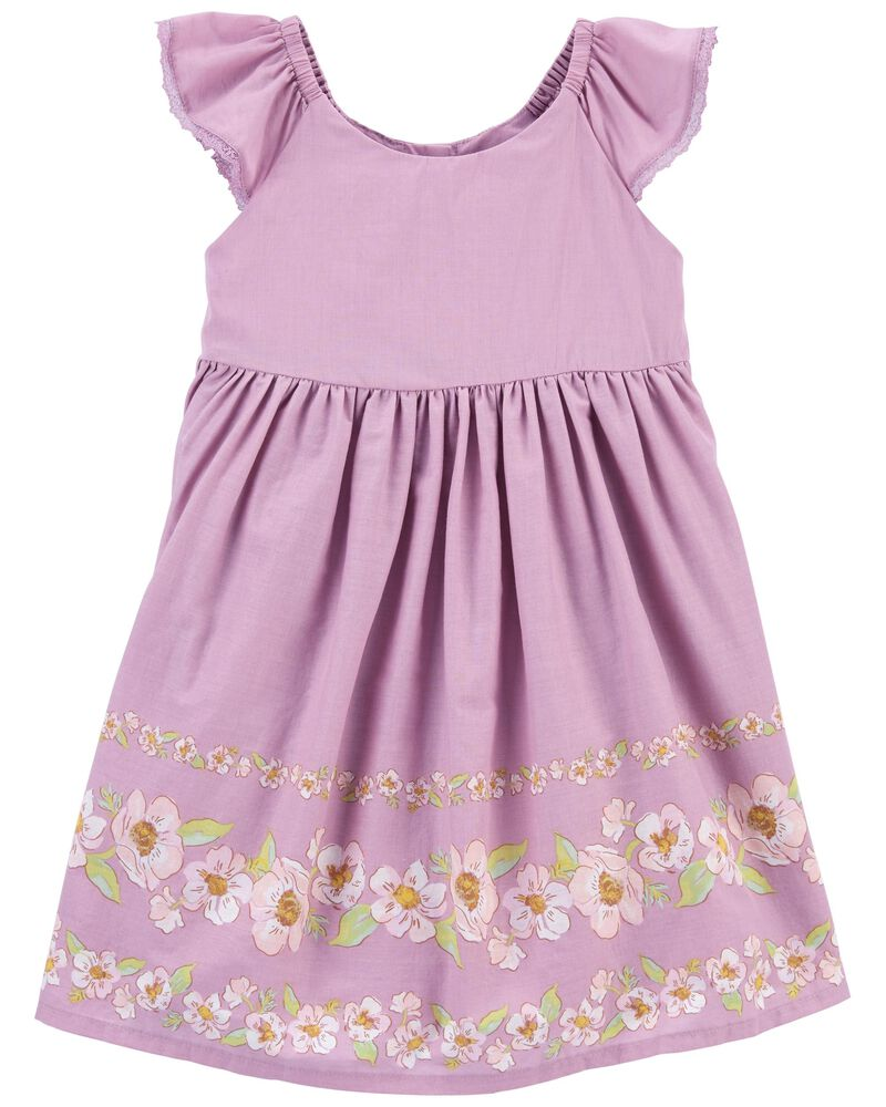 Floral Ruffle Dress, , hi-res