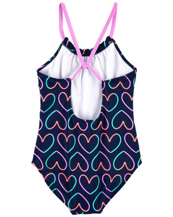 Heart 1-Piece Swimsuit