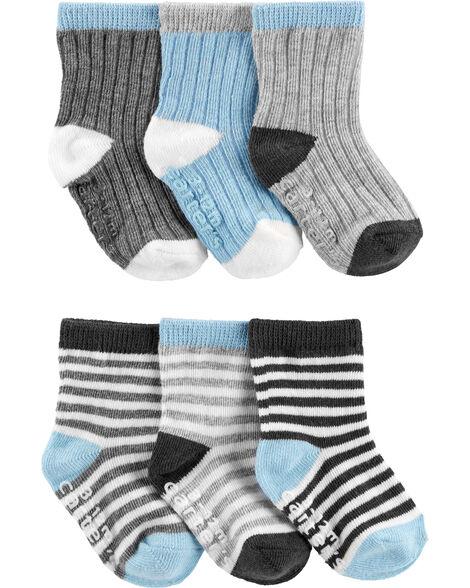 6 paires de chaussettes mi-mollet aux couleurs contrastées