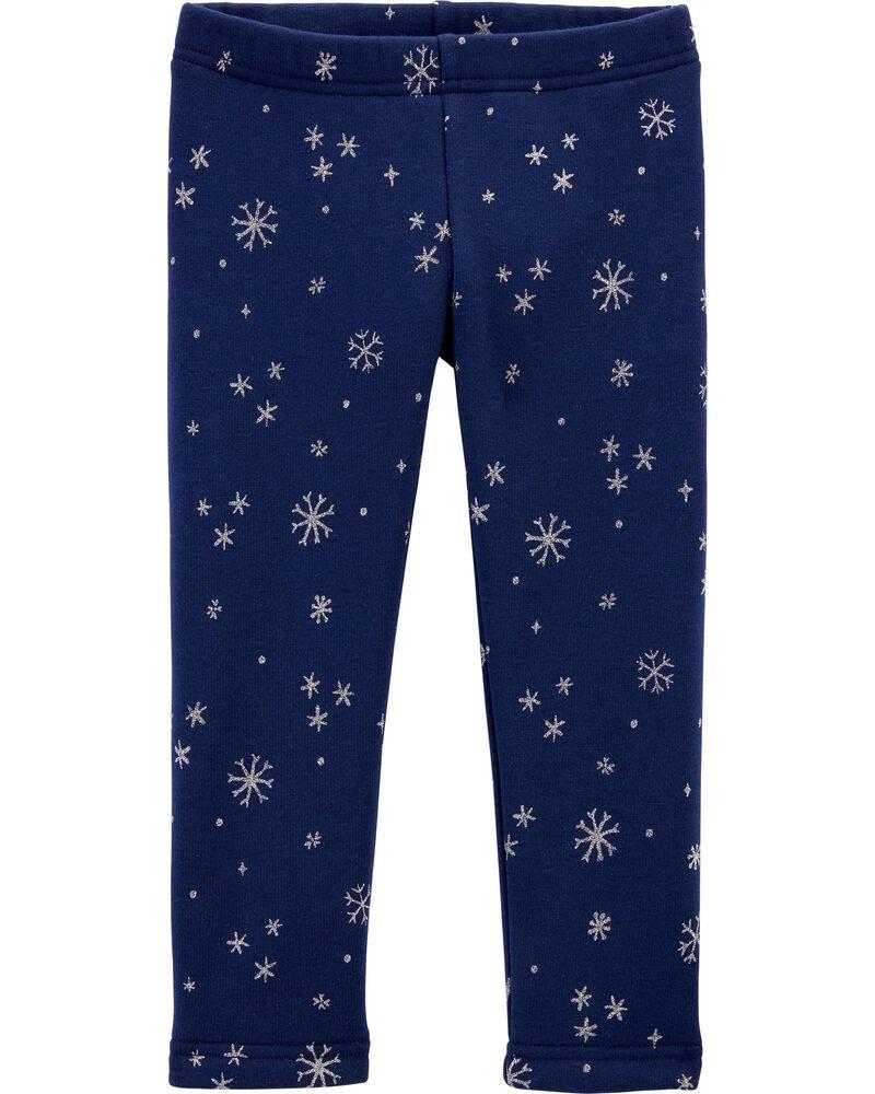 Snowflake Cozy Fleece-Lined Leggings, , hi-res