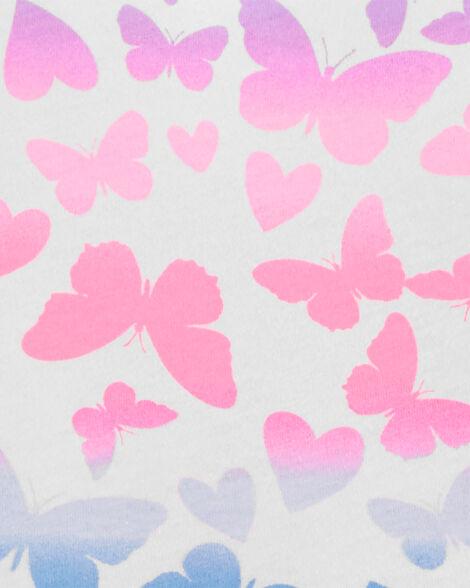 Emballage de 2 robes papillons et rayées