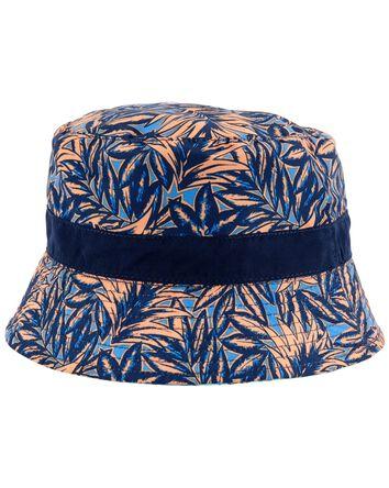 Reversible Shark Print Bucket Hat