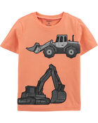 Construction Truck Snow Yarn Jersey Tee, , hi-res