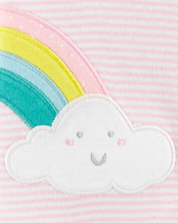 Rainbow Snap-Up Cotton Footless Sle...