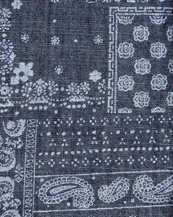 Chemise boutonnée en chambray motif...