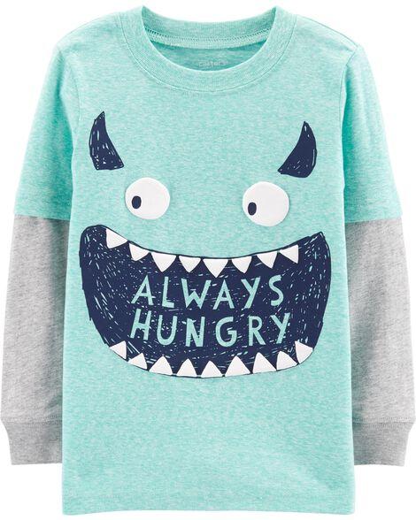 T-shirt monstre de style superposé