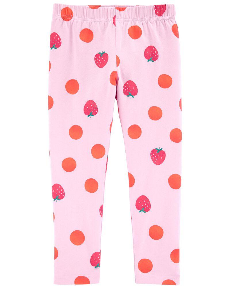Legging capri à fraises, , hi-res