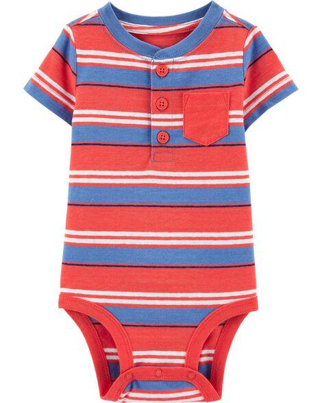 Striped Pocket Bodysuit