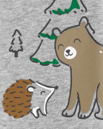 Woodland Creatures 2-Way Zip Cotton...