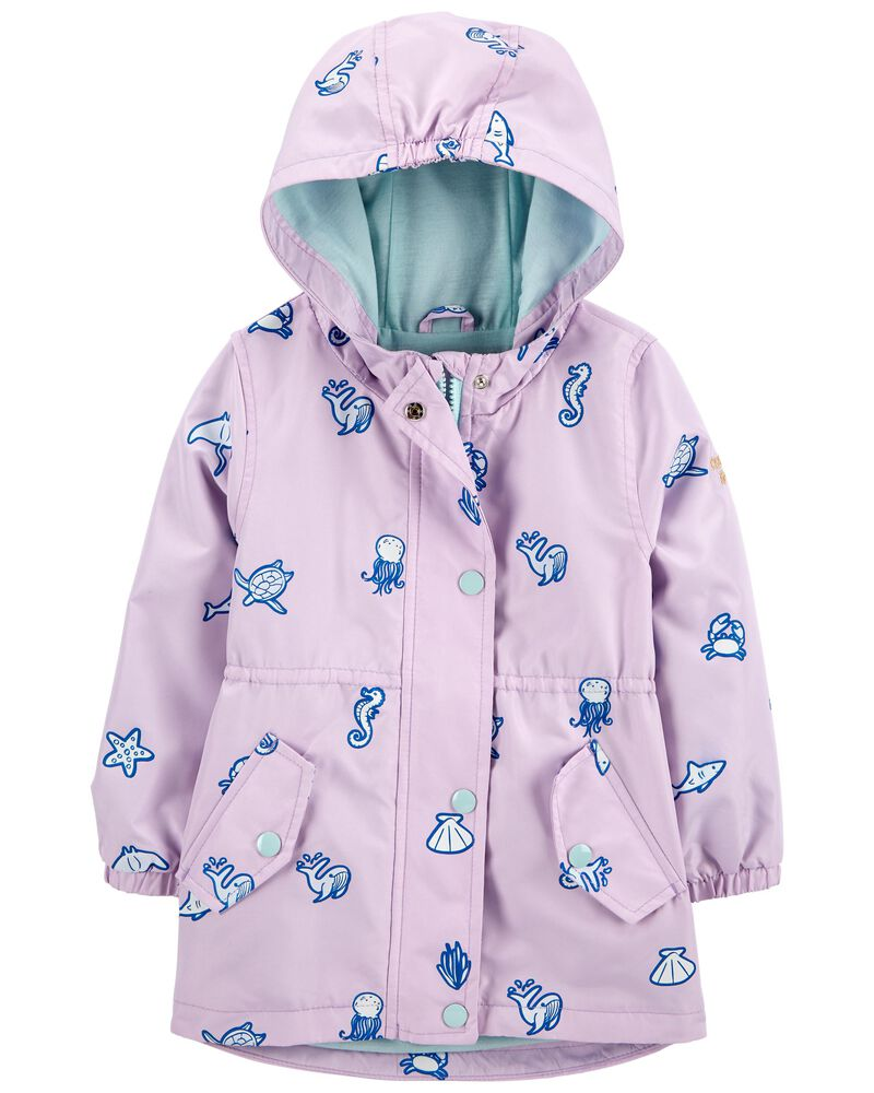 Colour Changing Sea Creatures Rain Jacket, , hi-res