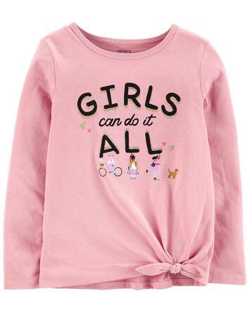 T-shirt en jersey Girls Can Do It A...