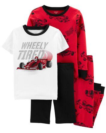 4-Piece Race Car 100% Snug Fit Cott...